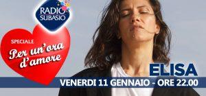 Elisa a Speciale Per Un'Ora d'Amore ... le vie del cuore sono infinite