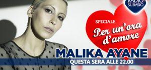 """Malika Ayane a Speciale Per Un'Ora d'Amore per ritrovare ... """"pezzi di noi"""""""