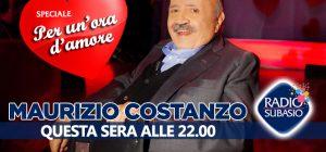 Maurizio Costanzo conduttore del cuore a Speciale Per Un'Ora d'Amore