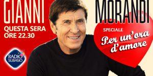"""Gianni Morandi a """"Speciale per un'Ora d'Amore"""""""