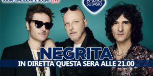 A Radio Subasio la musica dal vivo dei Negrita ... per una serata speciale
