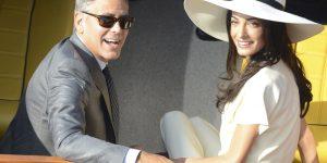 L'amore quando arriva arriva ... a George Clooney direttamente a casa
