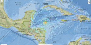 Terremoto: scossa di magnitudo 7,6 al largo dell'Honduras. Allerta tsumani