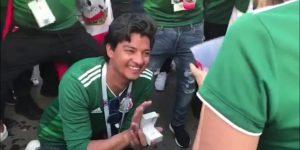Il Messico vince contro la Germania, il tifoso chiede in sposa la fidanzata