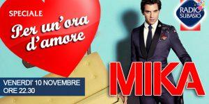Mika inaugura 'Speciale Per un'ora d'Amore': io sono le mie canzoni