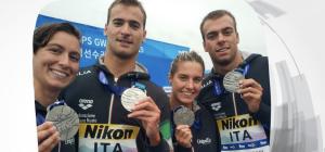 Mondiali nuoto: l'Italia conquista l'argento nella staffetta mista