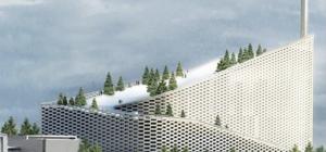 Copenhagen, una pista da sci sul tetto dell'inceneritore