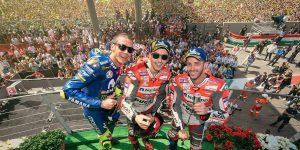 Mugello, vince Lorenzo, Dovizioso secondo, terzo Vale