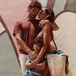 Belen, Stefano e Santiago, una famiglia che piace