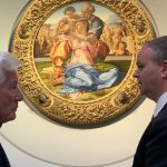 Firenze: Richard Gere in visita agli Uffizi