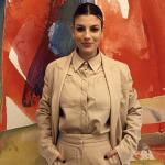 Emma Marrone sorridente a Cortina con Guido Milani