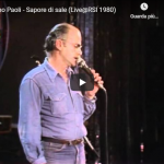 GINO PAOLI / Sapore di sale