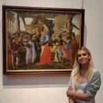 Chiara Ferragni incantata dagli Uffizi