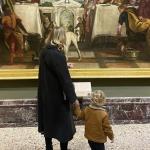 Chiara Ferragni e Leo alla Pinacoteca di Brera prima dello stop