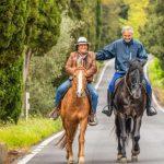 Andrea Bocelli e Al Bano, due amici a cavallo