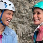 Michelle Hunziker e Serena Autieri conquistano il Piz Boè ... gioia infinita!